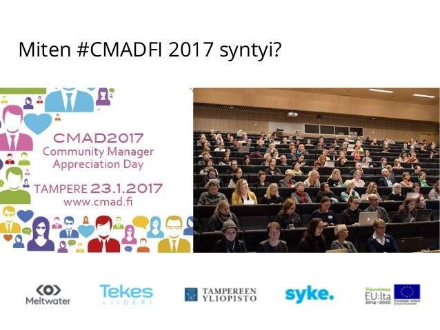 Miten #CMADFI 2017 syntyi?