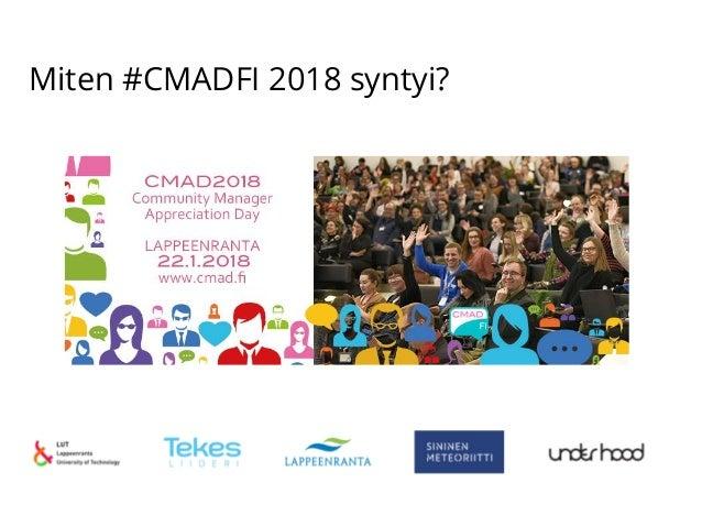 Miten #CMADFI 2018 syntyi?
