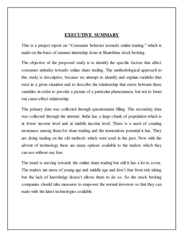 project on sharekhan