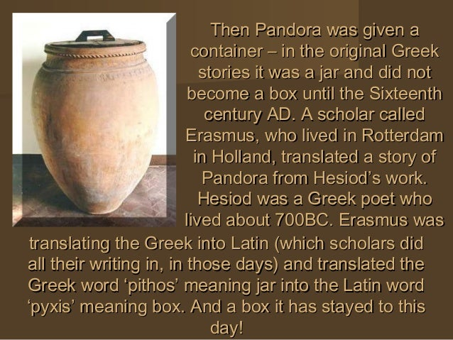 pandoras box legend