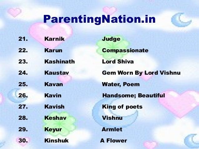 Mithun Rashi Baby Boy Names With Meanings