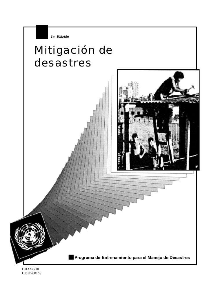1a. Edición          Mitigación de       desastres                                 Programa de Entrenamiento para el Manej...