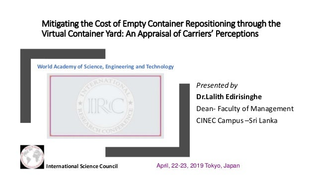 Mitigating the Cost of Empty Container Re positioning