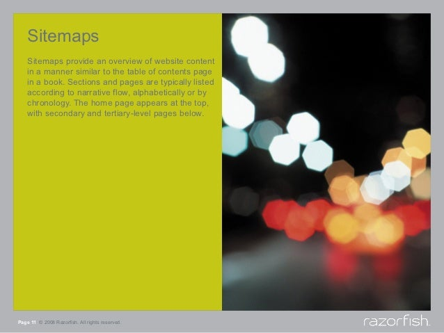 Sitemaps    Sitemaps provide an overview of website content    in a manner similar to the table of contents page    in a b...