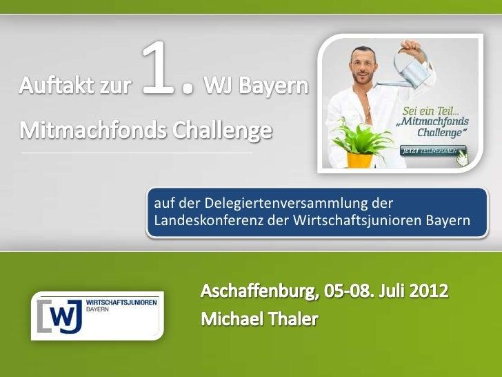 HeadlineTexte           auf der Delegiertenversammlung der           Landeskonferenz der Wirtschaftsjunioren Bayern