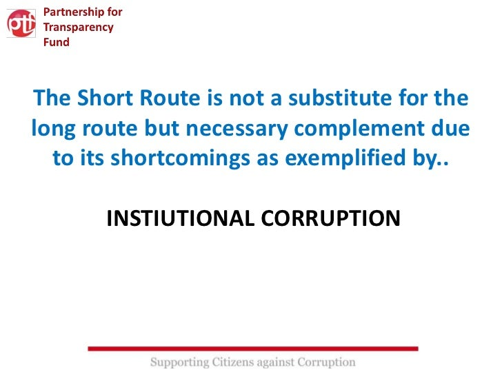 The Short Route is not a substitute for thelong route but necessary complement due  to its shortcomings as exemplified by....