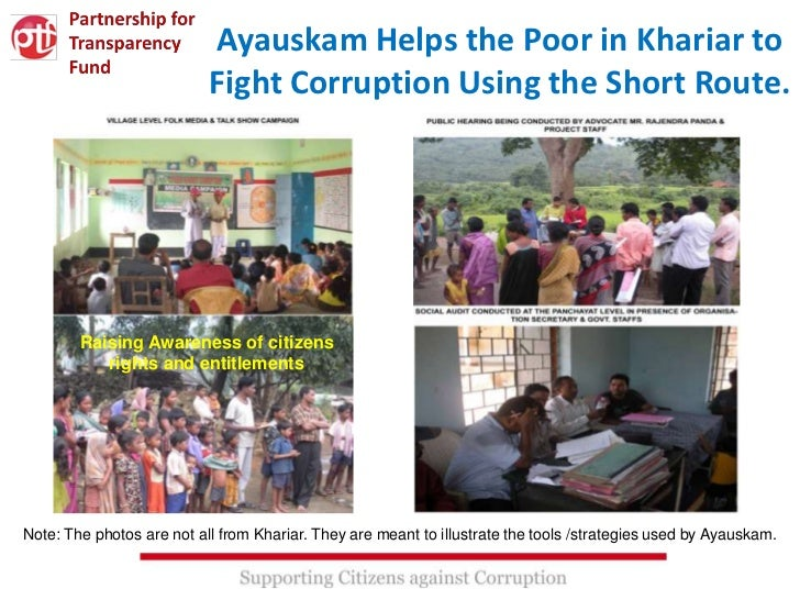 Ayauskam Helps the Poor in Khariar to                           Fight Corruption Using the Short Route.        Raising Awa...