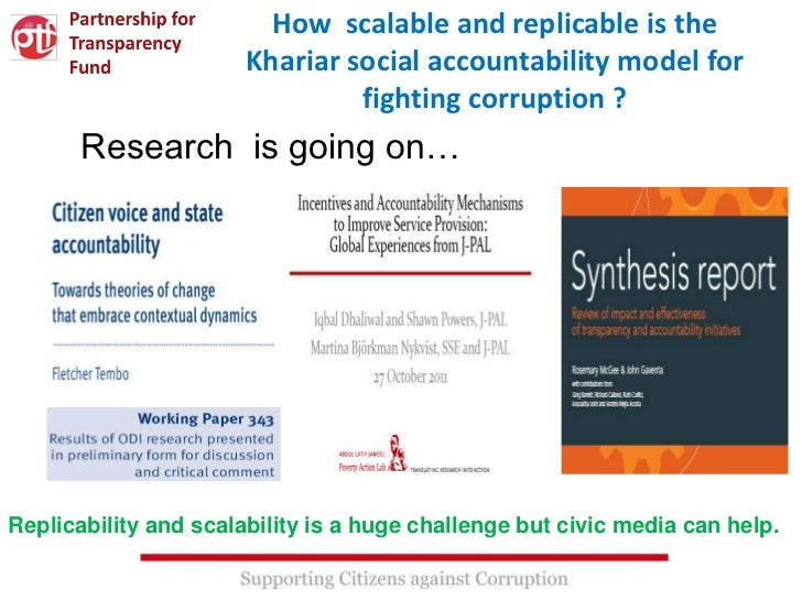 How scalable and replicable is the                       Khariar social accountability model for                          ...