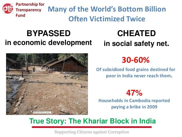Many of the World's Bottom Billion                Often Victimized Twice     BYPASSED                       CHEATEDin econ...