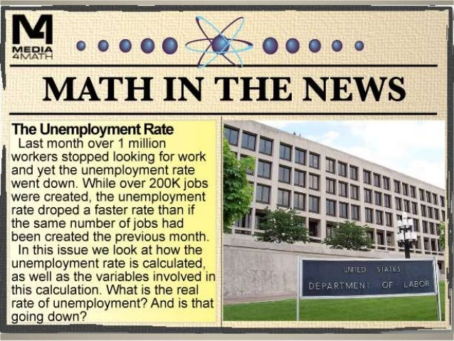Unemployment Statistics The Bureau of Labor Statistics (http://www.bls.gov) calculates the unemployment rate. This is calc...
