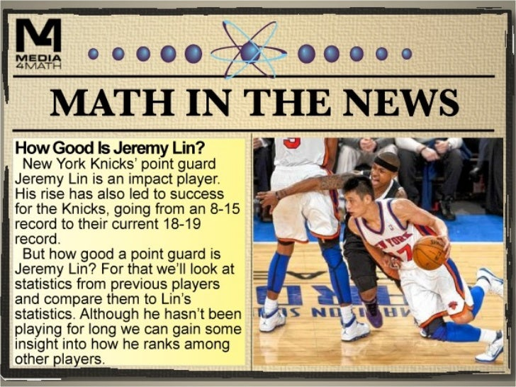 Basketball Stats• Jeremy Lin is a point  guard. And a point  guard plays an  important role on the  basketball team. In  s...