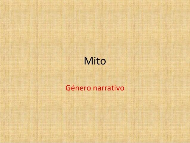 Mito Género narrativo