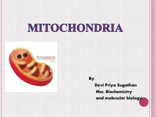 By, Devi Priya Sugathan Msc. Biochemistry and molecular biology.