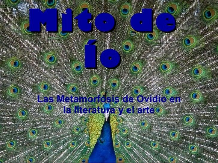 Mito de Ío Las Metamorfosis de Ovidio en la literatura y el arte