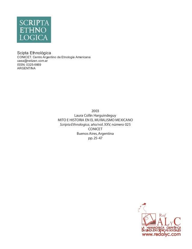 Scipta Ethnológica CONICET. Centro Argentino de Etnología Americana caea@netizen.com.ar ISSN: 0325-6669 ARGENTINA  2003 La...