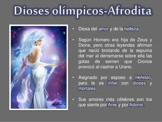 Mitologa clsica griega Los dioses y sus caractersticas