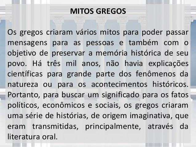 Mitologia Grega - Deuses e Seres Mitológicos Slide 2