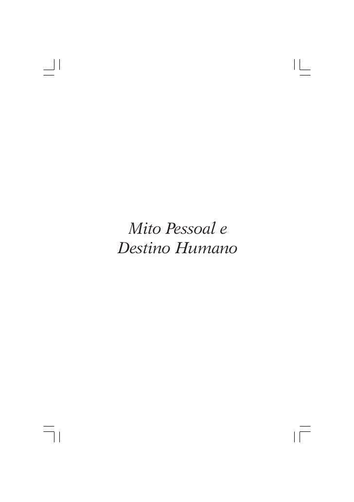 Mito Pessoal eDestino Humano