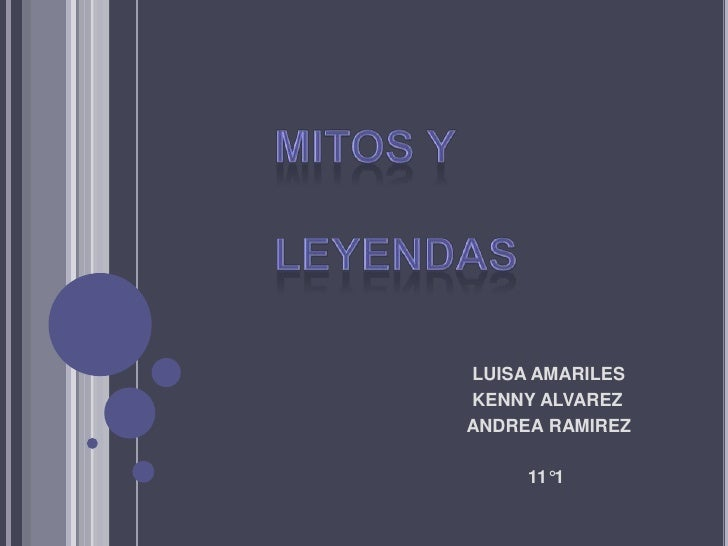 MITOS Y LEYENDAS<br />                                                        LUISA AMARILES<br />                        ...