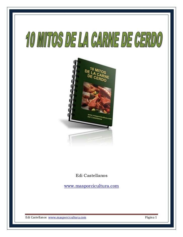 Edi Castellanos                        www.masporcicultura.comEdi Castellanos www.masporcicultura.com           Página 1