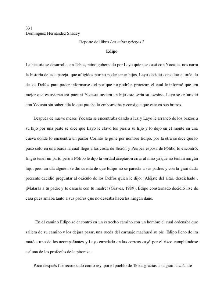 331Domínguez Hernández Shadey                                Reporte del libro Los mitos griegos 2                        ...