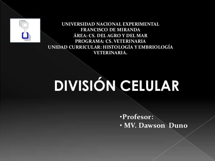 UNIVERSIDAD NACIONAL EXPERIMENTAL           FRANCISCO DE MIRANDA        ÁREA: CS. DEL AGRO Y DEL MAR         PROGRAMA: CS....