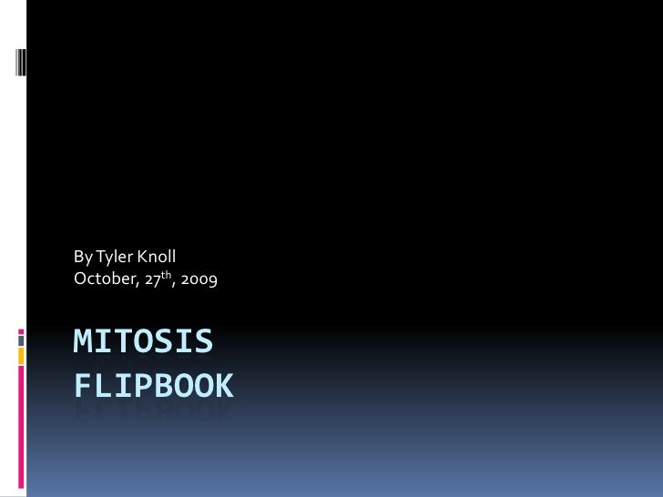 MitosisFlipbook<br />By Tyler Knoll<br />October, 27th, 2009<br />