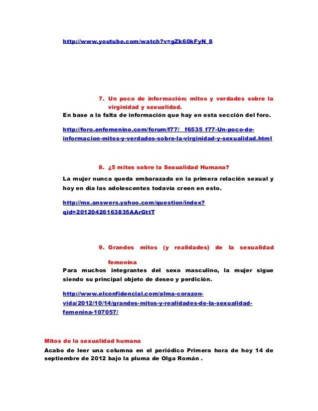 MITOS Y REALIDADES DE LA SEXUALIDAD Slide 3