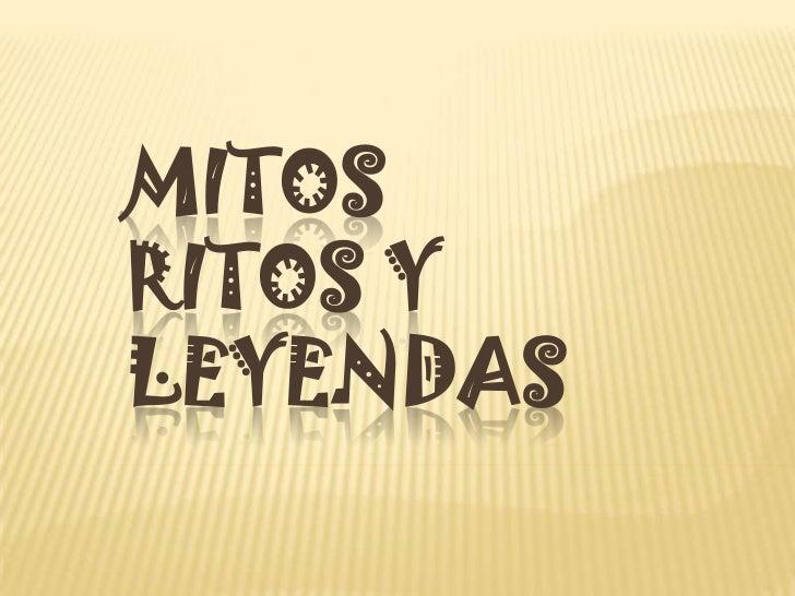 MITOSRITOS YLEYENDAS