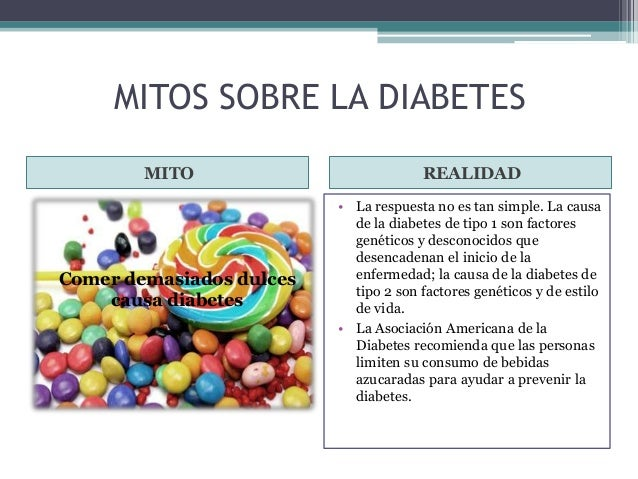 Mitos sobre la diabetes