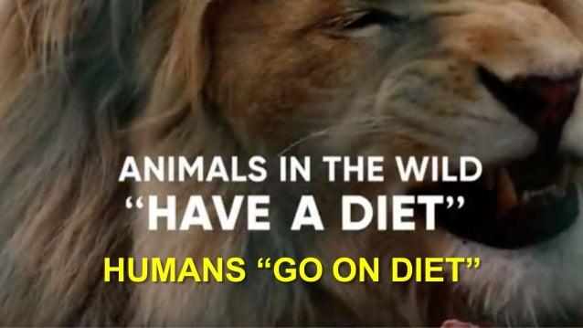 "HUMANS ""GO ON DIET"""