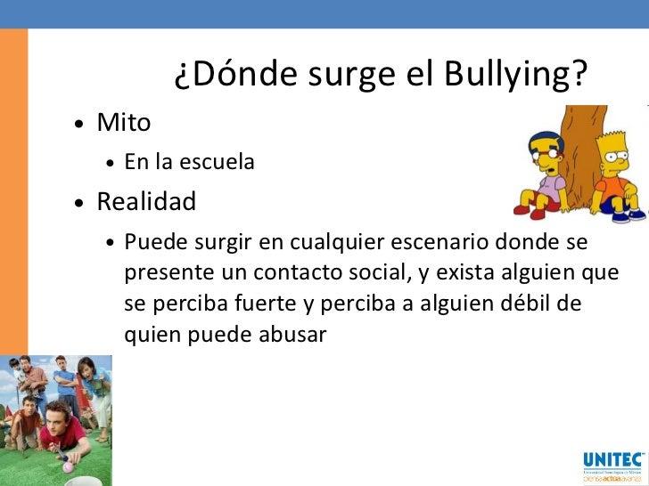 Mitos y realidades sobre el bullying for De donde viene el marmol