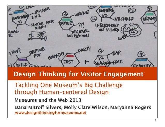 Design Thinking for Visitor EngagementTackling One Museum's Big Challengethrough Human-centered DesignMuseums and the Web ...