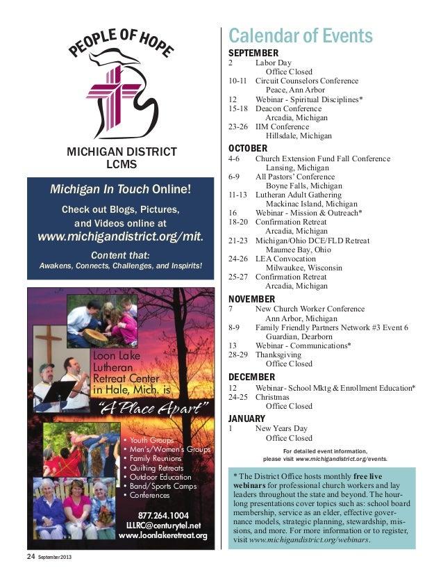 september 2013 michigan district lcms supplement rh slideshare net