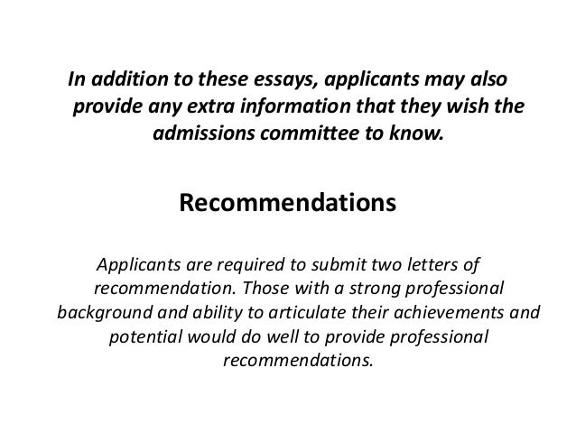 sloan 2009 essays While the mit sloan school of management shares some fundamental characteristics  application essay topics sloan requires four essays that are designed to draw out how candidates  the application dates for the 2009-2010 admis sions cycle are: round 1 submission deadline october 27, 2010.