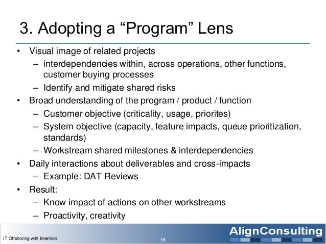 """3. Adopting a """"Program"""" Lens • Visual image of related projects – interdependencies within, across operations, other funct..."""