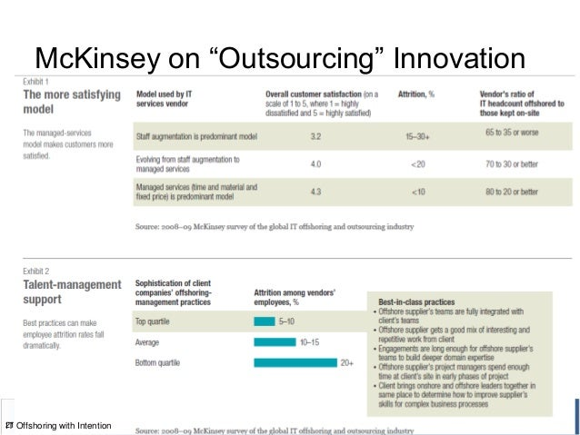 """McKinsey on """"Outsourcing"""" Innovation 21IT Offshoring with Intention"""