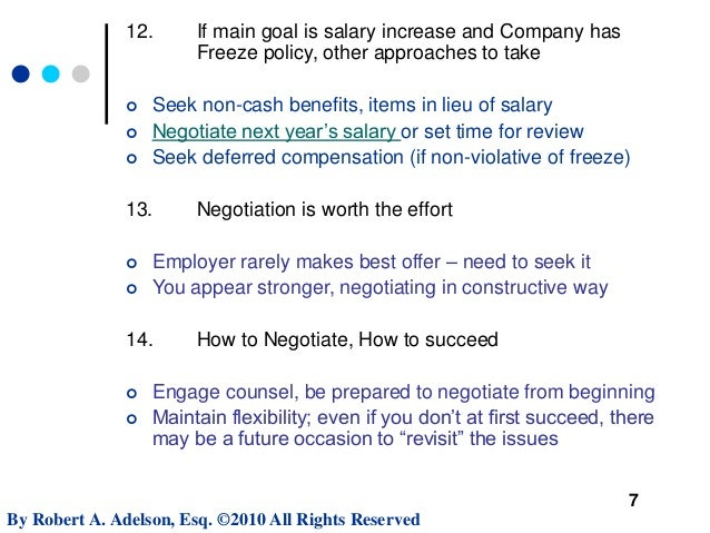 Negotiating Executive Employment Contract Terms - MIT Sloan Webinar