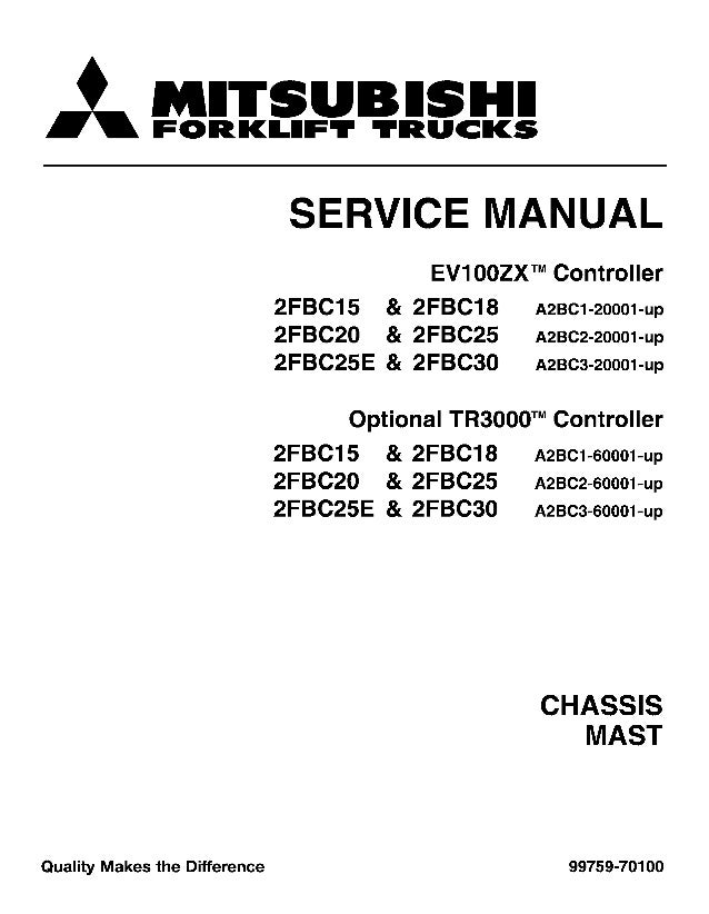 mitsubishi 2 fbc15 forklift trucks chassis mast service repair manual  thank you very much for your reading please click here then get more information mitsubishi 2 fbc15
