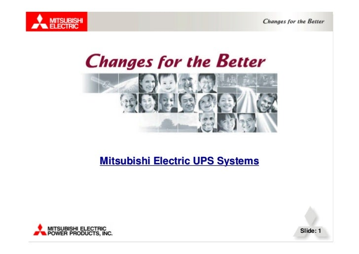 Mitsubishi Electric UPS Systems                                  Slide: 1