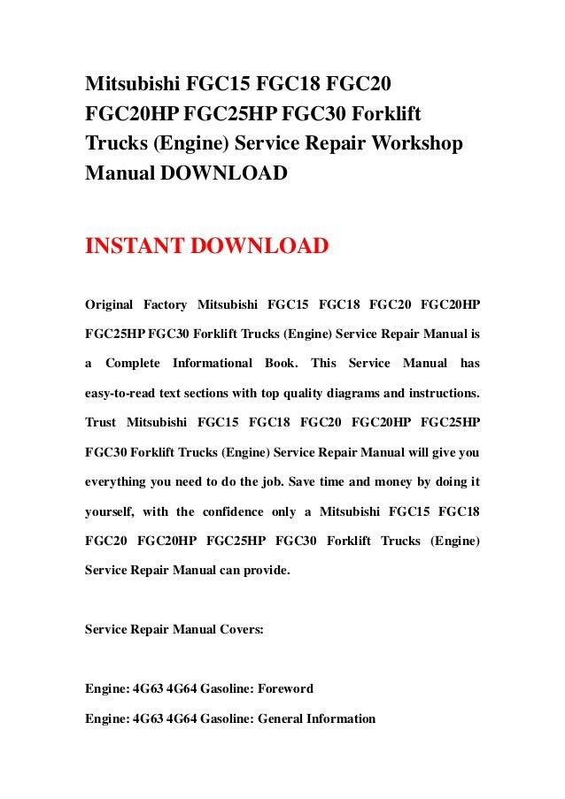 mitsubishi fgc15 fgc18 fgc20 fgc20 hp fgc25hp fgc30 forklift trucks rh slideshare net Mitsubishi Galant Schematics 2014 Mitsubishi Outlander Sport Schematic