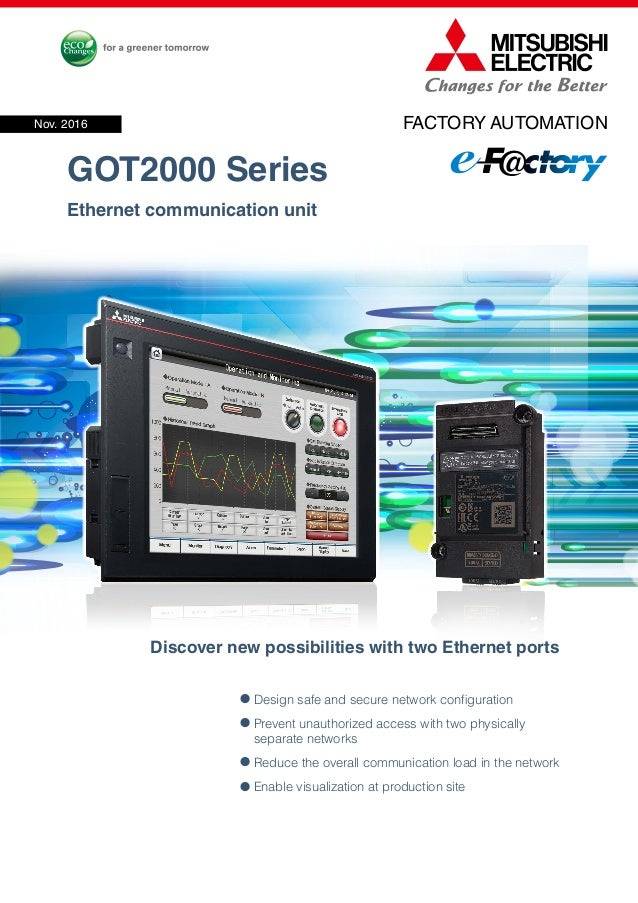 Mitsubishi graphic operation terminal got2000 series