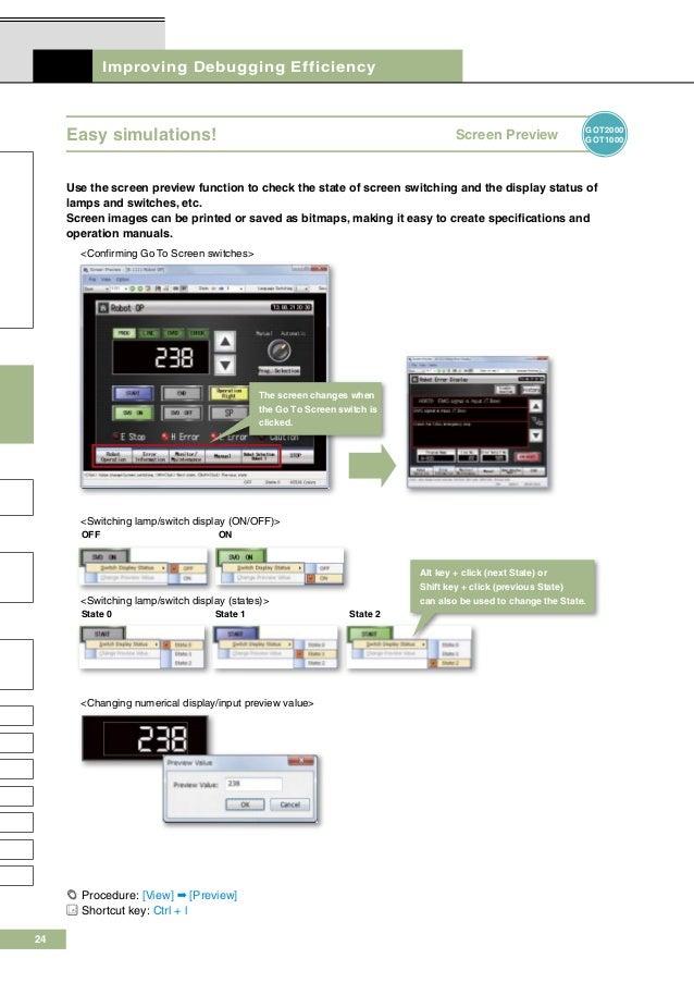 Mitsubishi graphic operation terminal screen design software
