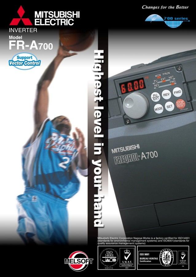 Mitsubishi Inverter Freqrol A700 Series
