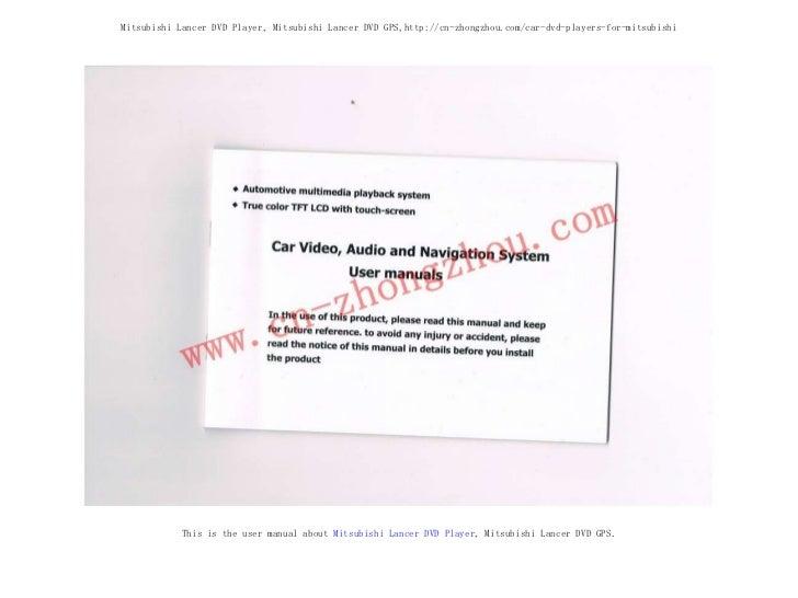 Mitsubishi Lancer DVD Player, Mitsubishi Lancer DVD GPS,http://cn-zhongzhou.com/car-dvd-players-for-mitsubishi This is the...
