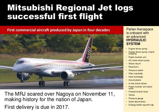 Mitsubishi Regional Jet logs successful first flight The MRJ soared over Nagoya on November 11, making history for the nat...