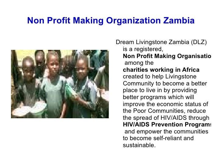 Non Profit Making Charitable Organization Livingstone Zambia Slide 2