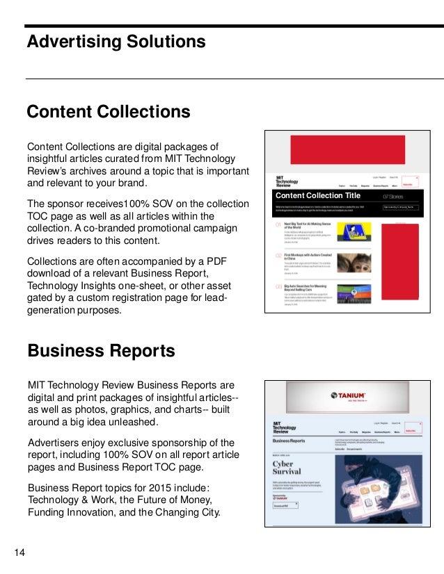 MIT technology Review Media Kit 2016