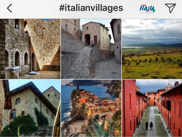 28 #ItalianVillages Twitter, Instagram e Facebook
