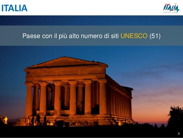 ITALIA Paese con il più alto numero di siti UNESCO (51) 6